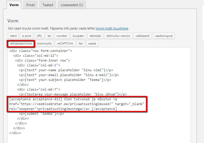 kontaktivorm_uus andmekaitse määrus
